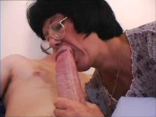 Blowjob Brunette Glasses Mature