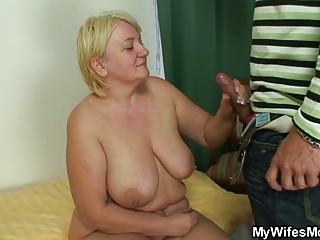 Big Cock Big Tits Handjob Mature Natural