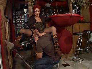 Clothed Licking Mom Old And Young Redhead Stockings