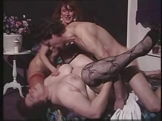 Hardcore Stockings Threesome Vintage