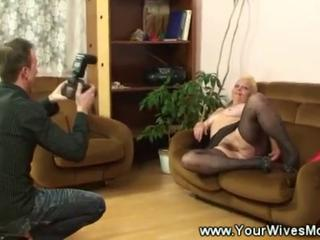Casting Hairy Mom Old And Young Stockings