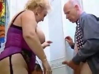 Big Tits German Mature Threesome