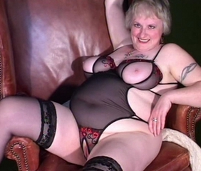 Big Tits Lingerie Natural Stockings Tattoo
