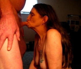 Amateur Blowjob Homemade Long Hair Older Small Cock Tattoo Wife