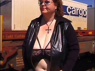 Amateur  Big Tits Glasses Lingerie Natural Outdoor Public