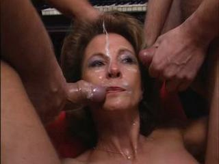 Cumshot European Facial Gangbang German Mature
