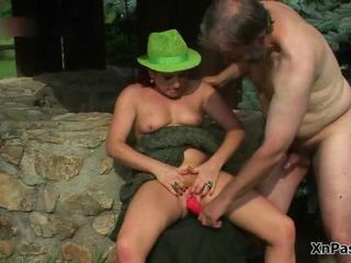 Older Outdoor Small Cock Toy Wife