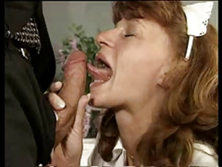 Vintage mature blowjob
