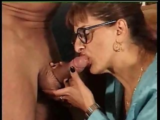Blowjob Glasses Mature
