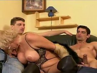 Big Cock Big Tits Blowjob Old And Young Threesome