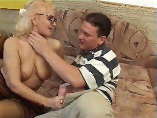 Glasses Handjob Mom Natural Old And Young
