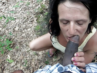 Big Cock Blowjob Interracial Outdoor
