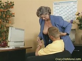 Mature Mom Office Old And Young
