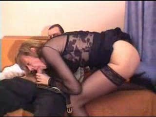 Blowjob European French Lingerie Old And Young Stockings
