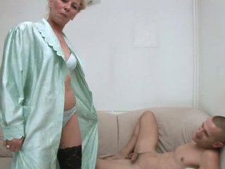 Lingerie Mom Old And Young Stripper