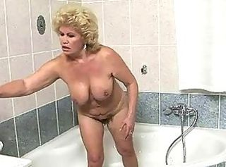 Bathroom Big Tits Blonde Chubby Hairy Natural Pornstar