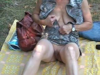 Amateur Outdoor  Shaved Stripper