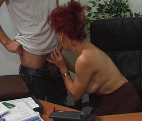 Blowjob Office Old And Young Redhead Secretary