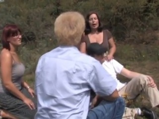 Groupsex Old And Young Outdoor