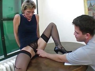 Glasses Mature Mom Old And Young Panty Stockings