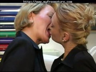 European French Kissing Lesbian