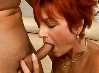 Blowjob Mom Old And Young Redhead