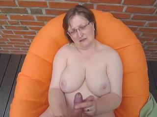Big Tits Chubby Glasses Handjob Natural