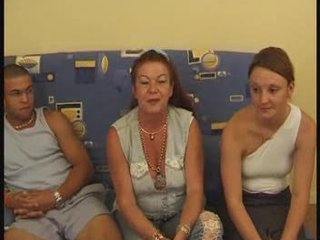Amateur Casting European French Old And Young Threesome