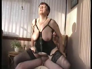 Big Tits Corset Mature Natural Riding  Stockings Wife