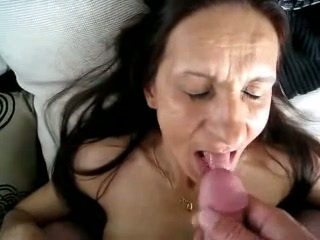 Amateur Brunette Cumshot Homemade Swallow