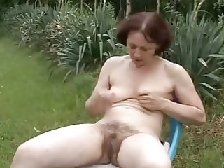 Amateur Hairy Outdoor