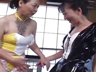 Asian Japanese Latex Lesbian Maid Uniform