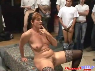 Gangbang Mature  Stockings