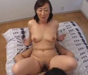 Asian Chubby Mature Mom Riding Small Tits