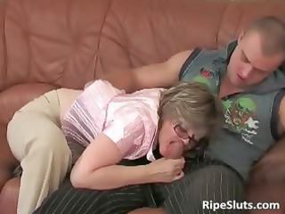 Blowjob Clothed Glasses Mature Mom Old And Young Russian