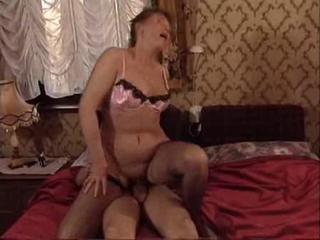 Lingerie Mom Old And Young Riding Stockings