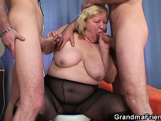 Big Cock Big Tits Blowjob Mom Natural Old And Young Pantyhose  Threesome