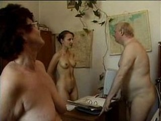 Family Nudist Office Old And Young