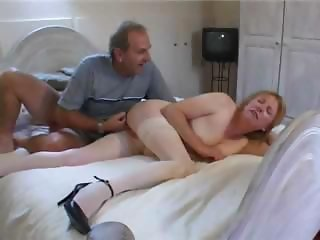 Fisting Older Stockings Wife