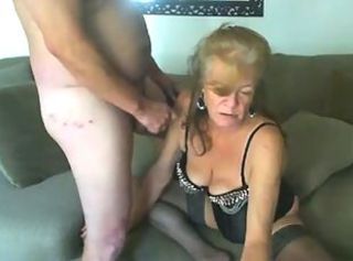 Amateur Homemade Lingerie Older Small Cock Stockings Wife