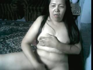 Asian Chubby Masturbating Solo Webcam