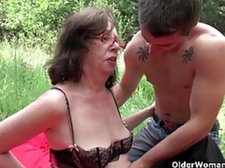 Glasses Lingerie Mom Old And Young Outdoor