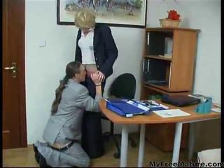 Clothed Office Old And Young Secretary