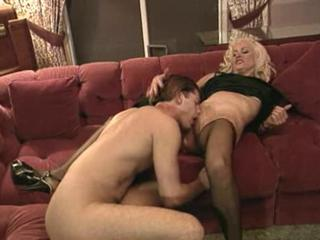 Blonde Licking Mom Old And Young Stockings