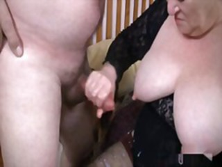 Big Tits Cumshot Handjob Natural Nipples