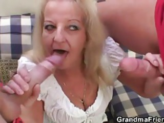 Big Cock Blowjob Mom Old And Young Threesome
