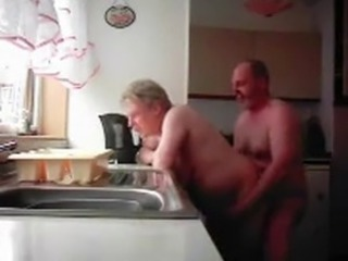 Amateur Doggystyle Homemade Kitchen Older Wife