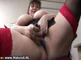 Big Tits Close up Masturbating Mature Toy