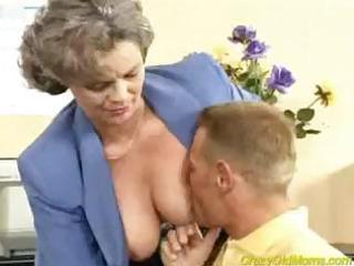 Licking Nipples Office Old And Young Secretary
