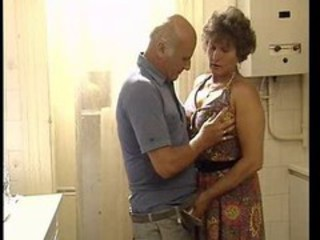 Amateur Homemade Kitchen Older Wife